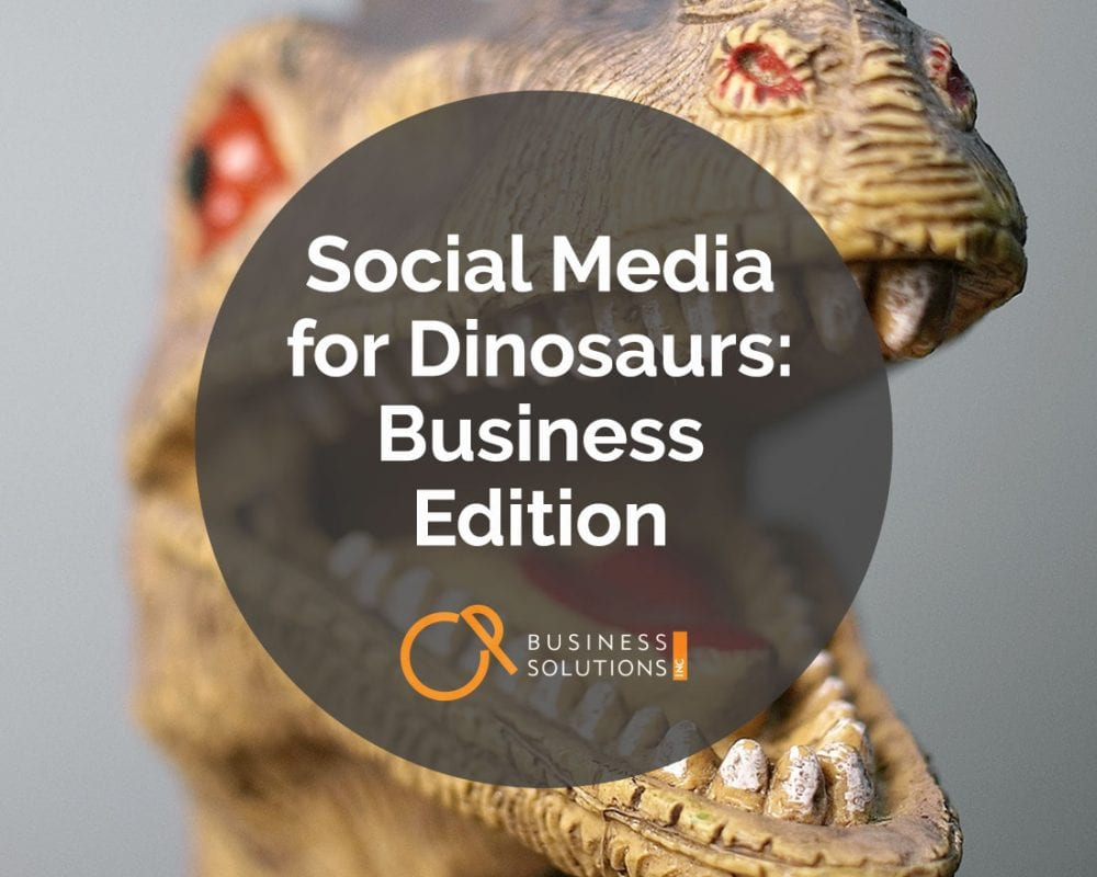 Social Media for Dinosaurs: Business Edition