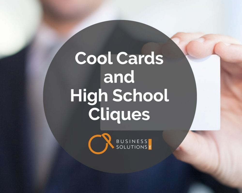 Cool Cards and High School Cliques